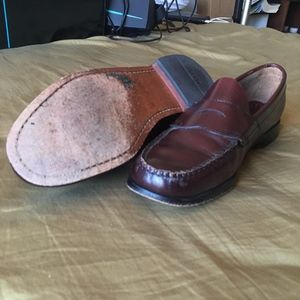 Bass Weejuns Flat Strap Logan Penny Loafer Size 9